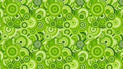 Green Overlapping Concentric Circles Background Pattern
