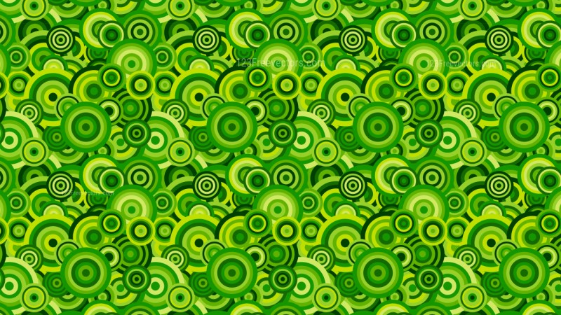 Green Seamless Overlapping Concentric Circles Pattern