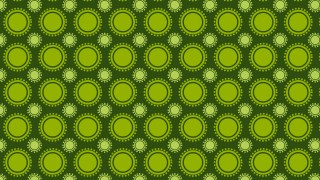 Dark Green Seamless Geometric Circle Background Pattern Illustration