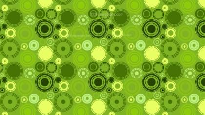 Green Random Circles Pattern