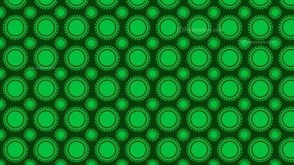 Dark Green Geometric Circle Background Pattern