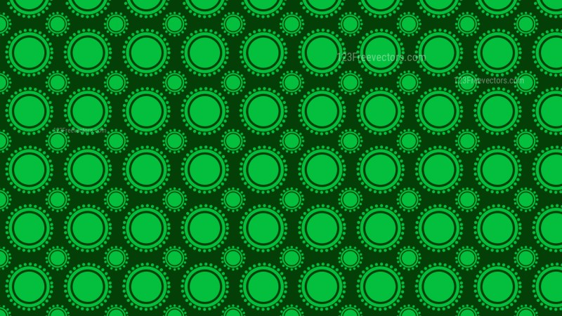 Dark Green Geometric Circle Background Pattern