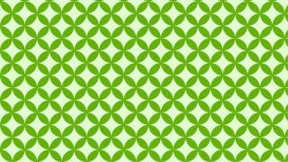 Green Overlapping Circles Pattern Background Image