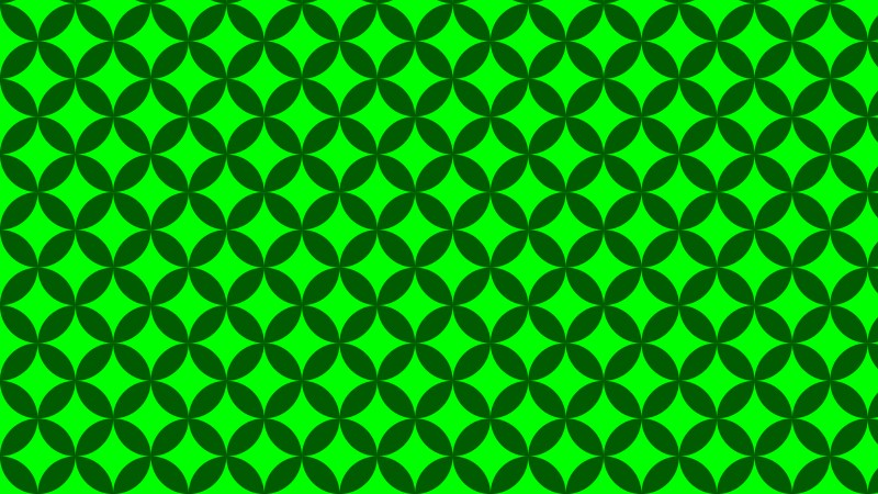 Green Overlapping Circles Background Pattern Vector Graphic