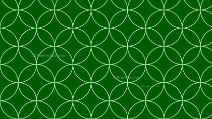 Dark Green Seamless Overlapping Circles Pattern Background Illustrator