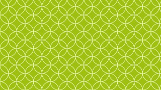 Lime Green Overlapping Circles Pattern