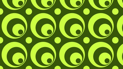 Green Seamless Circle Pattern