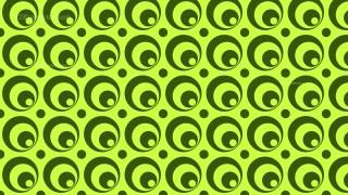 Green Seamless Circle Pattern Background