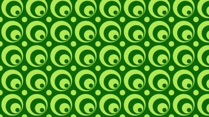 Green Seamless Circle Background Pattern