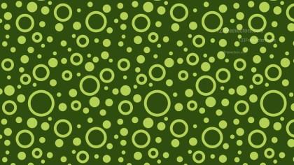 Dark Green Seamless Random Circles Pattern Background