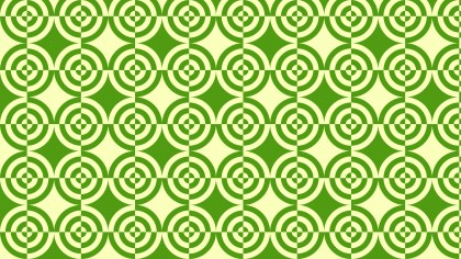 Green Quarter Circles Pattern Background