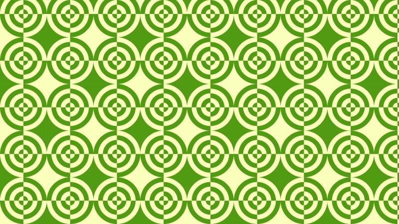 Green Quarter Circles Pattern Background