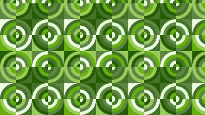 Green Seamless Quarter Circles Pattern Background