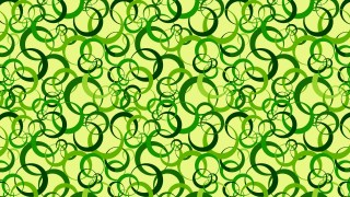 Green Seamless Overlapping Circles Pattern