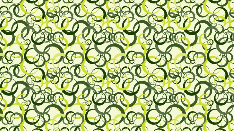 Green Seamless Overlapping Circles Pattern Background