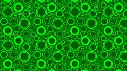 Green Random Circles Pattern Background Vector Art