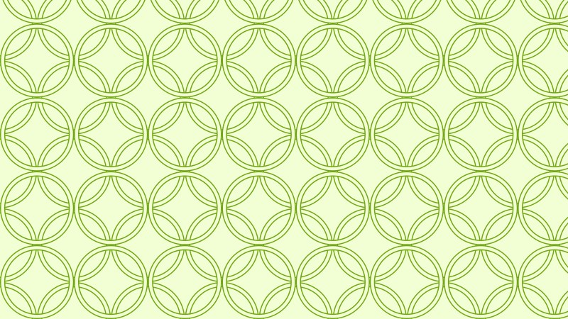 Light Green Seamless Overlapping Circles Background Pattern