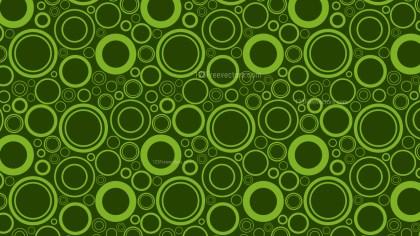 Dark Green Seamless Random Circles Pattern Background Design