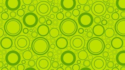 Green Seamless Random Circles Background Pattern Image