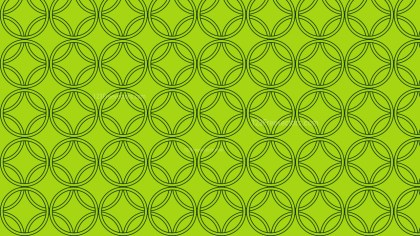 Green Seamless Overlapping Circles Background Pattern Vector Art