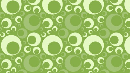Green Retro Circles Pattern Background