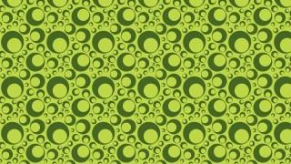 Green Seamless Circle Background Pattern Design