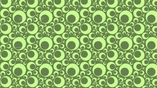 Green Retro Circles Background Pattern
