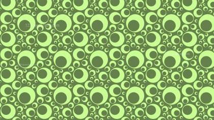 Green Retro Circles Background Pattern