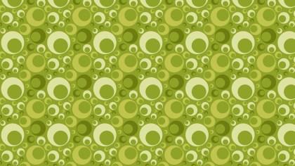 Green Geometric Retro Circles Pattern