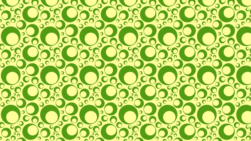 Green Seamless Geometric Circle Pattern Background Vector Graphic