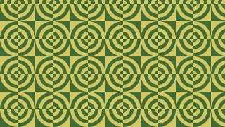 Green Quarter Circles Pattern Design