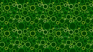 Dark Green Geometric Circle Pattern