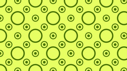 Lime Green Circle Pattern Vector