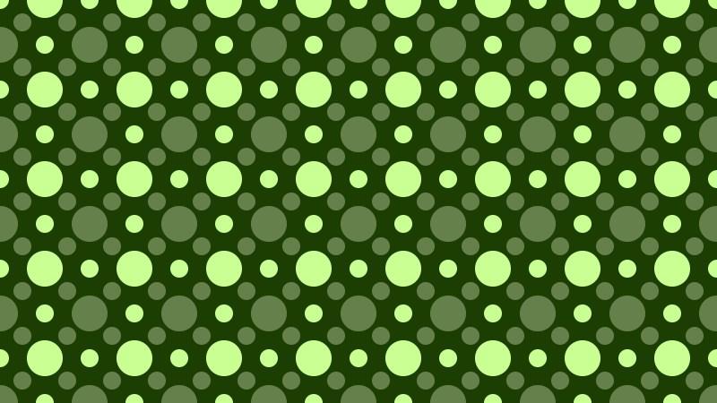 Dark Green Geometric Circle Pattern Illustration