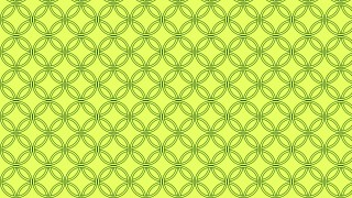 Lime Green Seamless Overlapping Circles Pattern