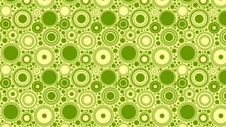 Green Random Circles Pattern Background