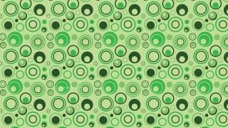 Green Random Circles Background Pattern