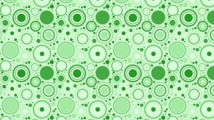 Light Green Seamless Random Circles Pattern