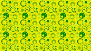 Green Seamless Random Circles Background Pattern