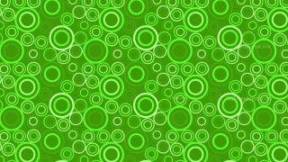Green Seamless Circle Pattern Vector Graphic