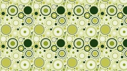 Green Seamless Random Circles Pattern Image