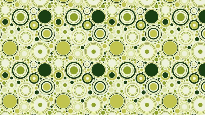 Green Seamless Random Circles Pattern Image