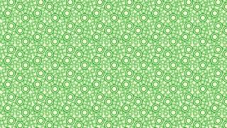 Green Seamless Geometric Circle Pattern Vector Illustration
