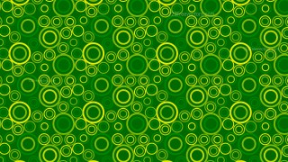 Green Seamless Geometric Circle Pattern Background Vector