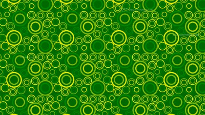 Green Seamless Geometric Circle Pattern Background Vector