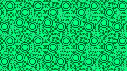 Emerald Green Seamless Geometric Circle Background Pattern Vector Art
