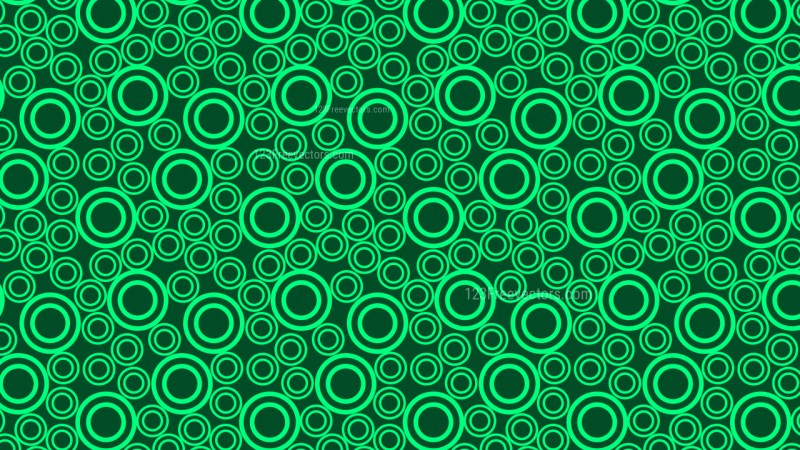 Green Circle Pattern Background