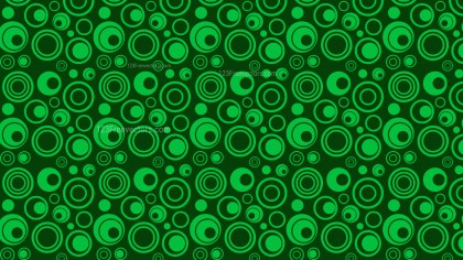 Dark Green Geometric Circle Pattern Background