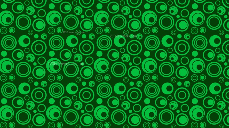 Dark Green Geometric Circle Pattern Background