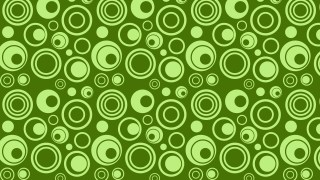 Green Seamless Circle Background Pattern